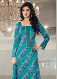 Rivaa 16107B Blue Color Glace cotton Designer Suit