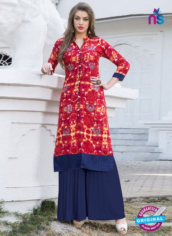 RT 16109 Red Formal Kurti