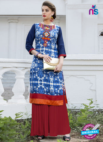 RT 16110 Blue Formal Kurti