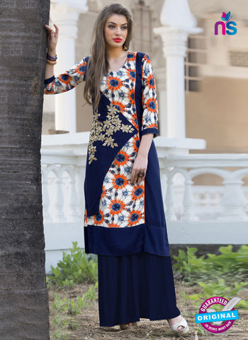 RT 16111 Blue Formal Kurti