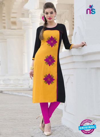 RT 16116 Yellow Formal Kurti