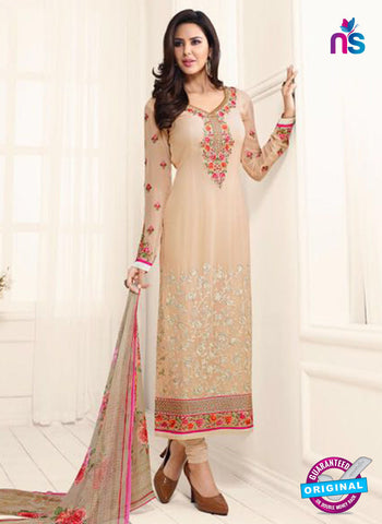 Glossy 1611 Beige Party Wear Suit