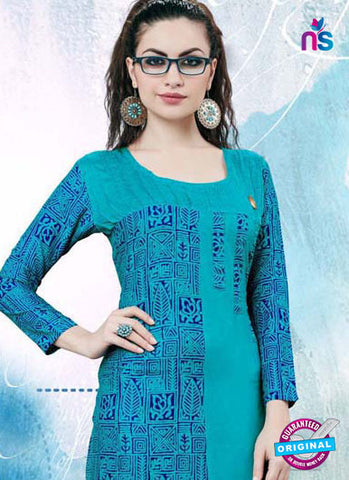 RT 16138 Sky Blue Cotton Kurti