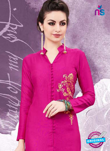 RT 16143 Pink Cotton Kurti