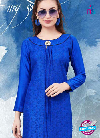 RT 16144 Blue Cotton Kurti