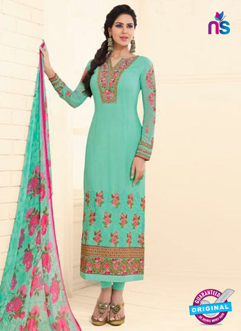 Glossy 1618 Sea Green Party Wear Suit