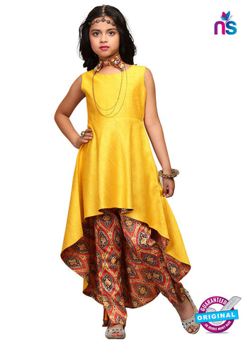 RT 16277 Yellow Indo Western Suit