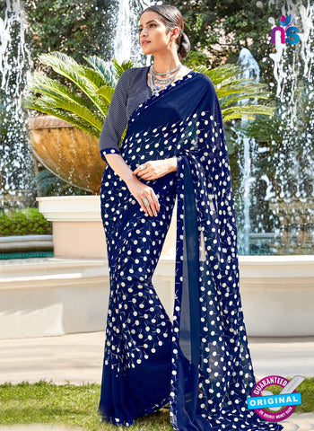 RT 16451 Blue Casual Saree