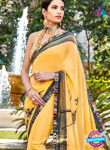 RT 16452 Yellow Casual Saree