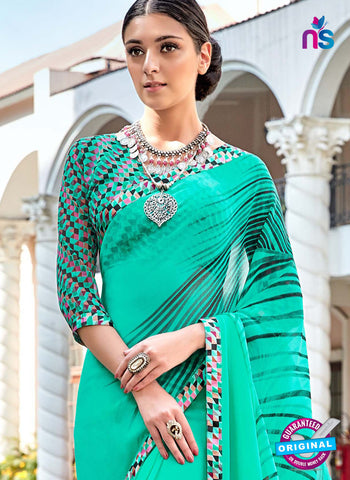 RT 16453 Sea Green Casual Saree