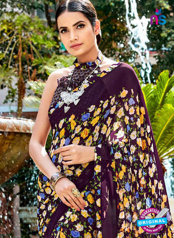 RT 16454 Purple Casual Saree