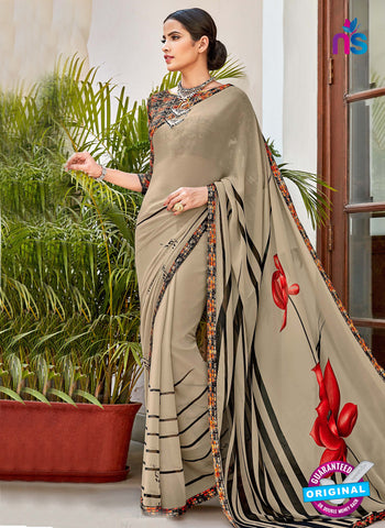 RT 16455 Grey Casual Saree