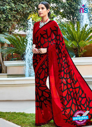 RT 16457 Red Casual Saree