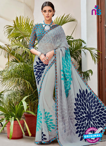 RT 16461 Grey Casual Saree