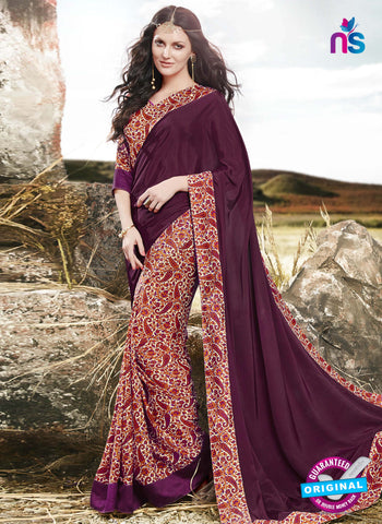 RT 16521 Purple FormalSaree
