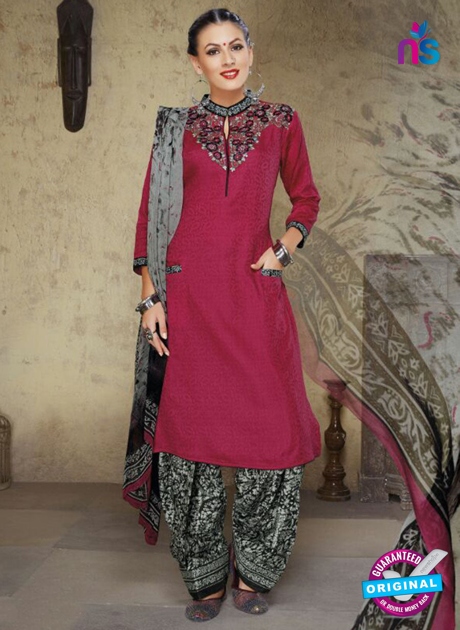 Ruhab 1655 Pink & MultiColor Cotton Designer Suit
