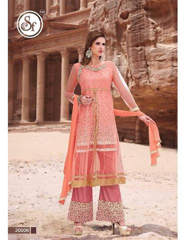 NS11448 BrinkPink and DullGold Designer Suit