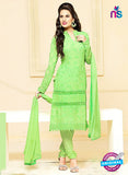 NS10301 Green Party Wear Pure Chiffon Designer Straight Suit