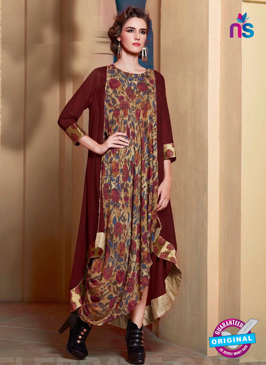 Brown Georgette designer Tunic