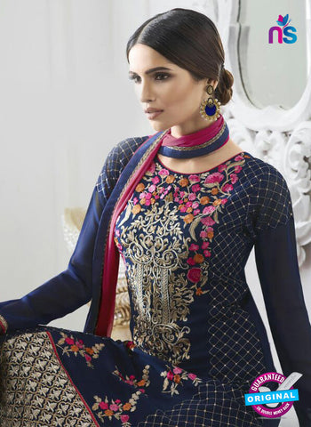 Eternal 169 Blue Georgette Embroidery Party Wear Suit Online