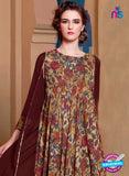 buy brown georgette designer tunic online
