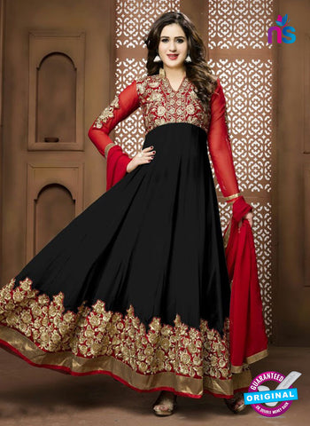 Twisha 17001 Black Georgette Anarkali Suit
