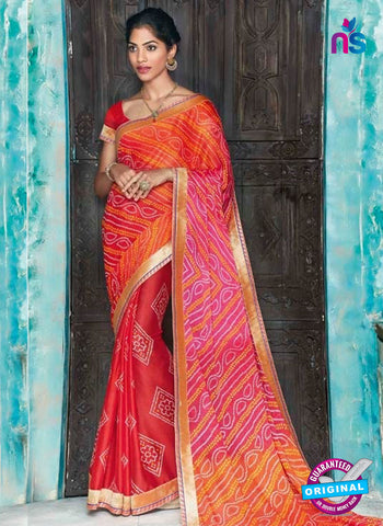AZ 2007 Red and Multicolor Georgette Fancy Formal Saree