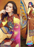 SC 12637 Yellow, Blue and Brown Pure Lawn Digital Print Plazzo Suit
