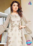 SC 13527 Beige Poly Georgette Designer Fancy Traditional Wear Pakistani Suit Online