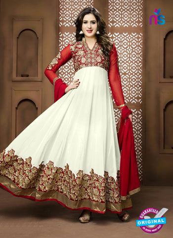 Twisha 17002 White Georgette Anarkali Suit