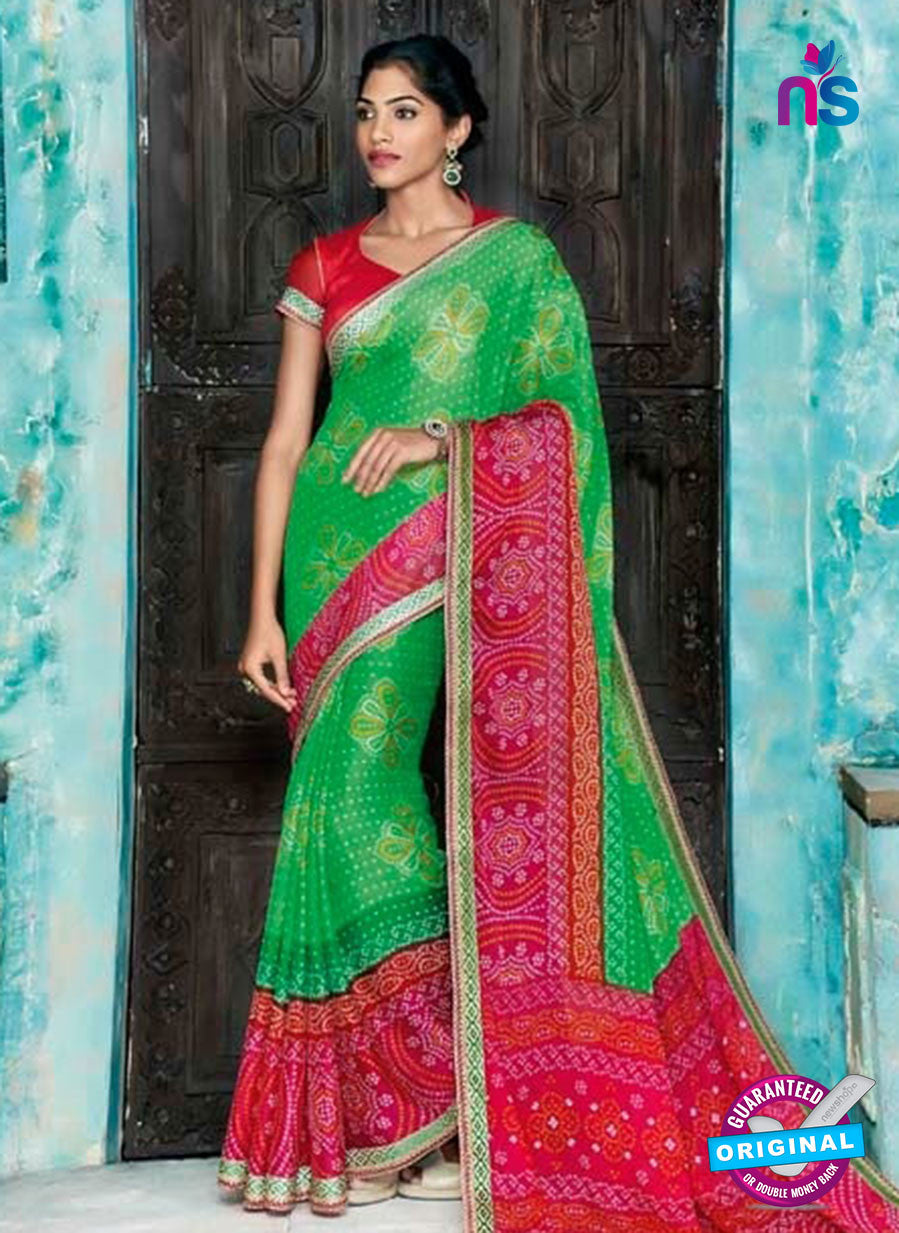 AZ 2008 Green and Multicolor Georgette Fancy Formal Saree