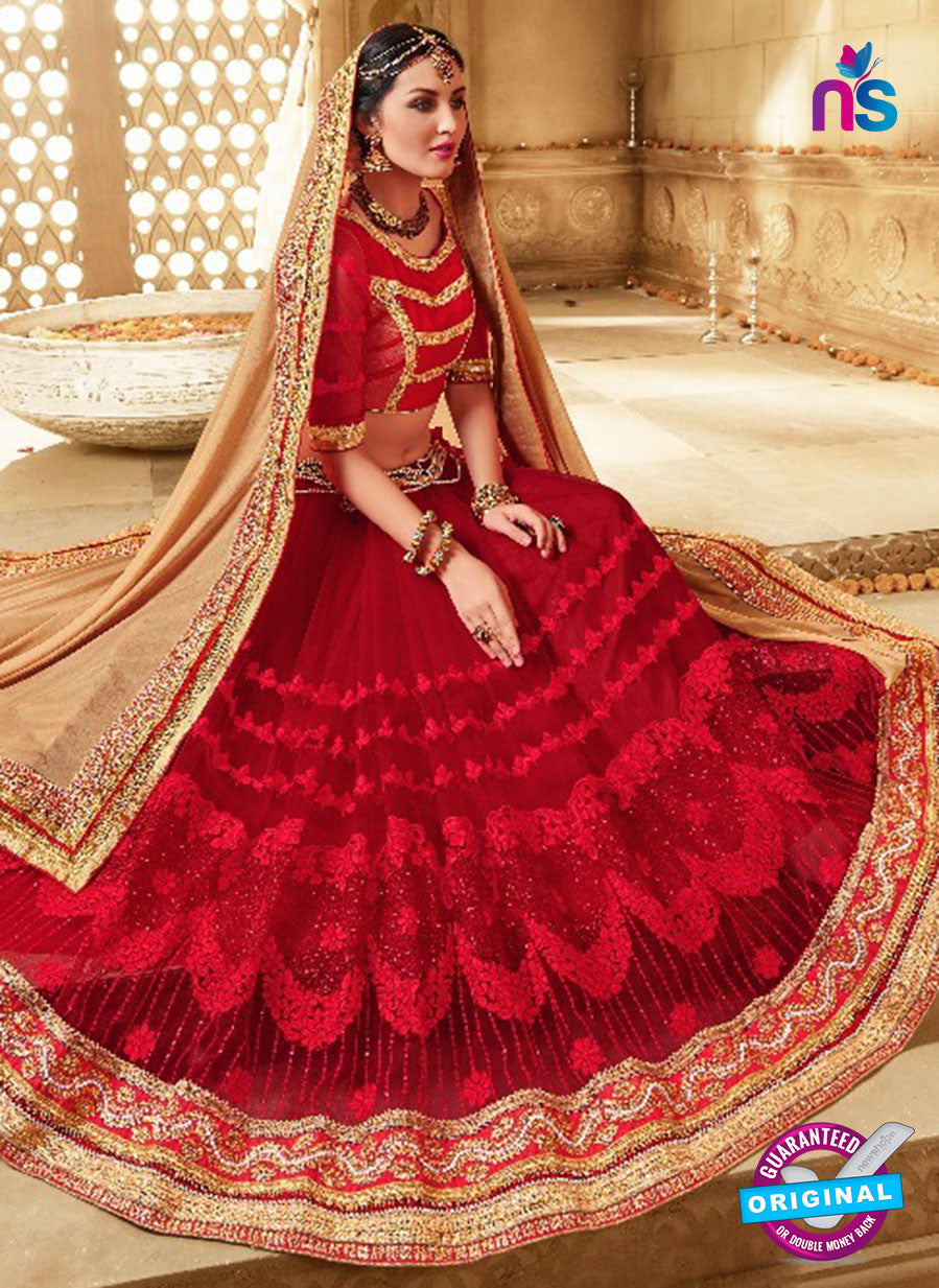 SC 13676 Red Exclusive Designer Fancy Ethnic Wedding Wear Saree
