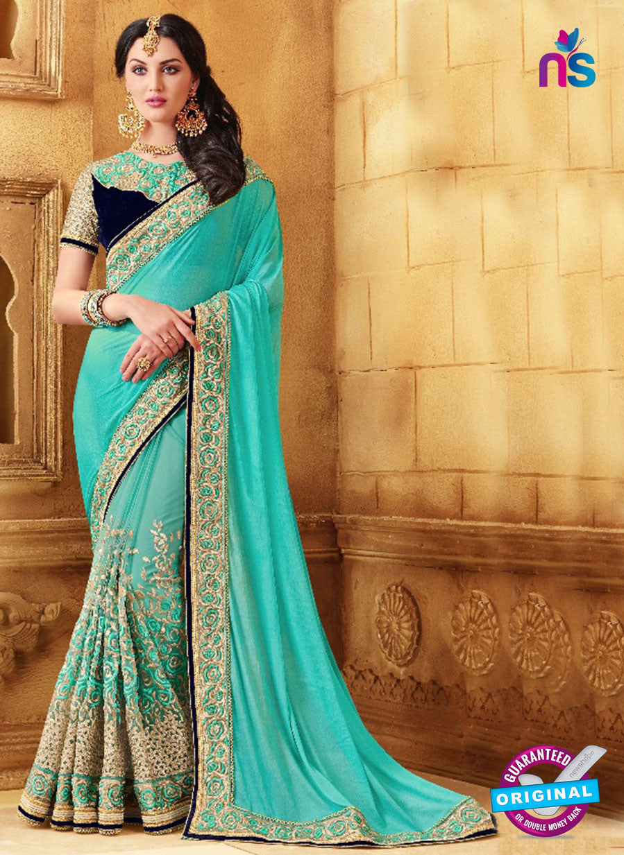 SC 13675 Sky Blue Exclusive Designer Fancy Ethnic Wedding Wear Saree