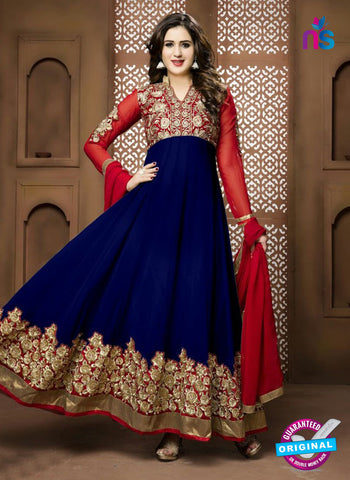 Twisha 17003 Blue Georgette Anarkali Suit