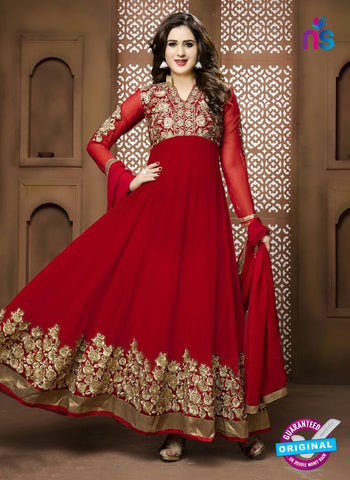 Twisha 17004 Red Georgette Anarkali Suit