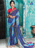 AZ 2010 Blue and Sky Blue Georgette Fancy Formal Saree