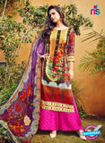 SC 12635 Purple, Red and Pink Pure Lawn Digital Print Plazzo Suit