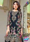 SC 13529 Black and Multicolor Designer Fancy Traditional Wear Pakistani Suit
