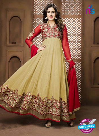 Twisha 17005 Beige Georgette Anarkali Suit