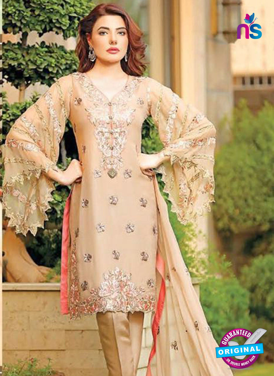 SC 13376 Beige Designer Fancy Traditional Pakistani Suit