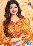 AZ 3558 Yellow Cotton Satin Formal Suit - Salwar Suits - NEW SHOP