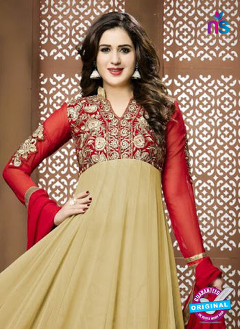 AZ 5155 Beige Georgette Anarkali Suit