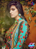 SC 12641 Blue and Red Pure Lawn Digital Print Plazzo Suit