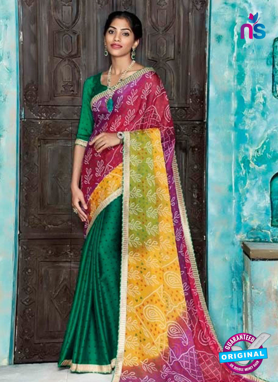 AZ 2012 Green and Multicolor Georgette Fancy Formal Saree