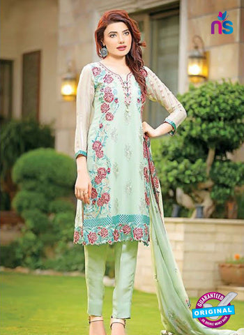 SC 13526 Green and Multicolor Poly Georgette Designer Fancy Traditional Wear Pakistani Suit