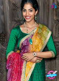 AZ 2012 Green and Multicolor Georgette Fancy Formal Saree - Sarees - NEW SHOP