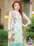 SC 13526 Green and Multicolor Poly Georgette Designer Fancy Traditional Wear Pakistani Suit Online