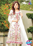 SC 13528 White and Multicolor Designer Fancy Traditional Wear Pakistani Suit