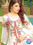 SC 13377 White and Multocolor Designer Fancy Traditional Pakistani Suit