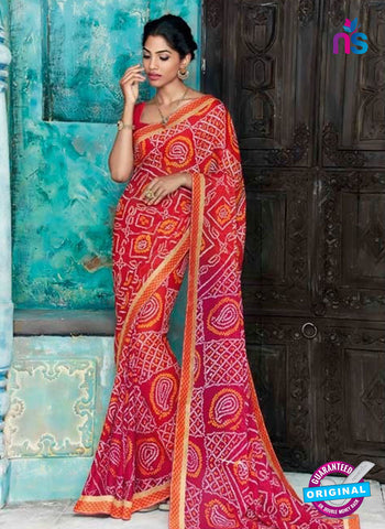 AZ 2015 Red and Multicolor Georgette Fancy Formal Saree